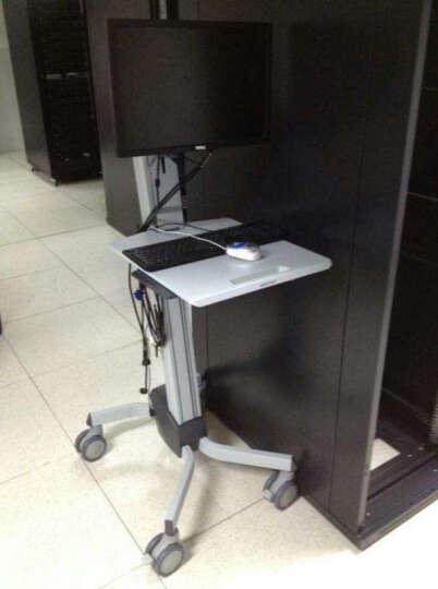 爱格升(ERGOTRON)24-206-214 坐站两用升降办公桌移动电脑桌站立式桌子机房查房推车 显示器手推车(24-206-214) 晒单图