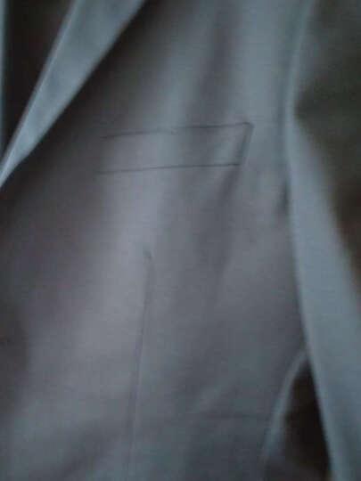 花花公子2017春季新款韩版修身 男士西服套装结婚礼服职业正装上班西服三件套男 酒红色三件套 XXL 晒单图