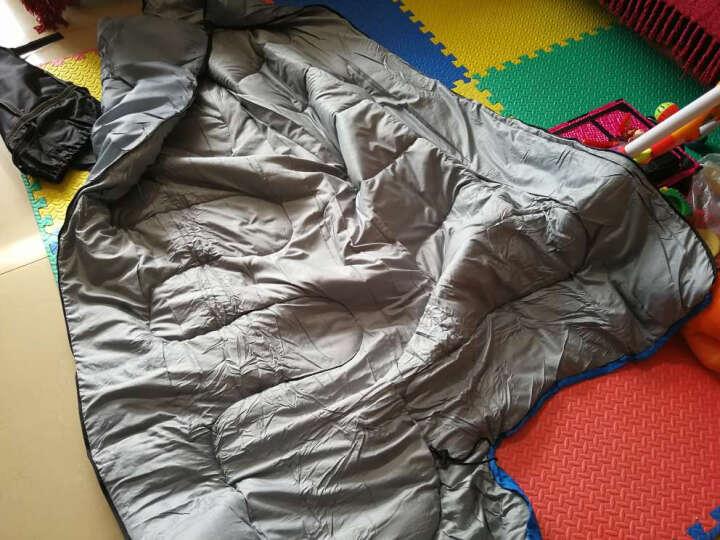 魔铁(MOTIE) 睡袋户外 成人春夏秋冬四季信封式加厚单双人可拼接睡袋 蓝色1.8KG+抓绒睡袋 晒单图
