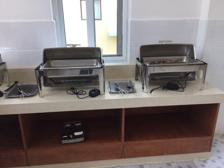 常进自助餐炉 9升(双格电加热)不锈钢布菲炉 酒店翻盖餐炉 晒单图