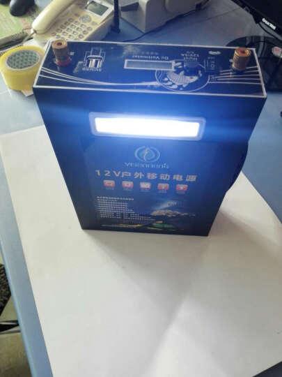 YI SEN NENG 12v锂电池大容量60ah锂电瓶头灯逆变器足容户外电源 60AH足容+充电器+背包+下水灯 晒单图