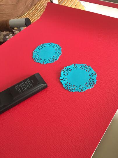 芳邻  桌布圆桌布加厚办公桌书桌餐桌垫鼠标垫软玻璃防水防油可定制 软玻璃波斯菊款(厚度2mm) 50*90cm 晒单图