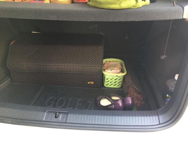 SNBLO 汽车收纳箱车用杂物整理箱 车载折叠式后备箱储物箱盒 多功能置物盒 尾箱置物箱 大号黑色红线(折叠式储物箱) 晒单图