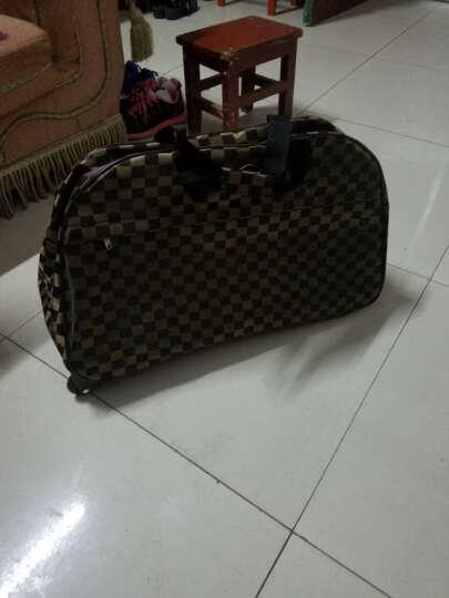 GOLOVE拉杆包短途旅行包女手提登机旅游包男旅行袋大容量行李包 报纸文 大号 晒单图