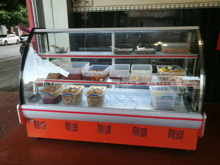 ?格盾(gedun) 直冷熟食展示柜 卤菜熟食柜 鸭脖子冷冻展示柜 冷鲜肉冷藏保鲜柜 商用 点击?选择(1.8米冷藏2至8度) 晒单图