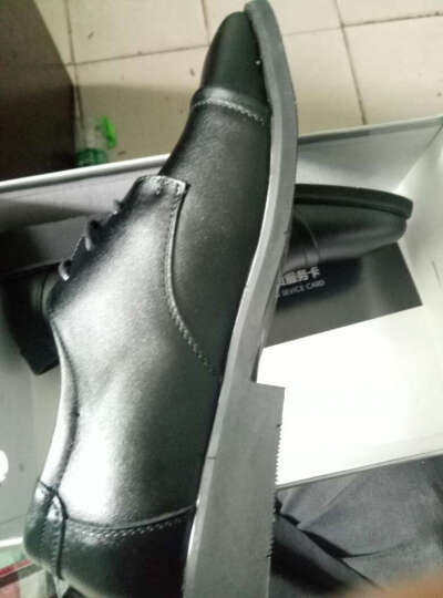 HENRYMAKER 春夏季皮鞋男士商务休闲鞋棉鞋男鞋英伦系带鞋子男正装 M3665 黑色镂空款 39 晒单图