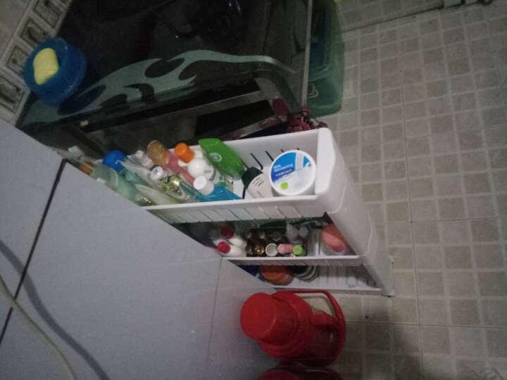 十一维度 厨房置物架夹缝置物架储物架可移动带滑轮浴室收纳架缝隙整理车 加厚三层(白色) 晒单图