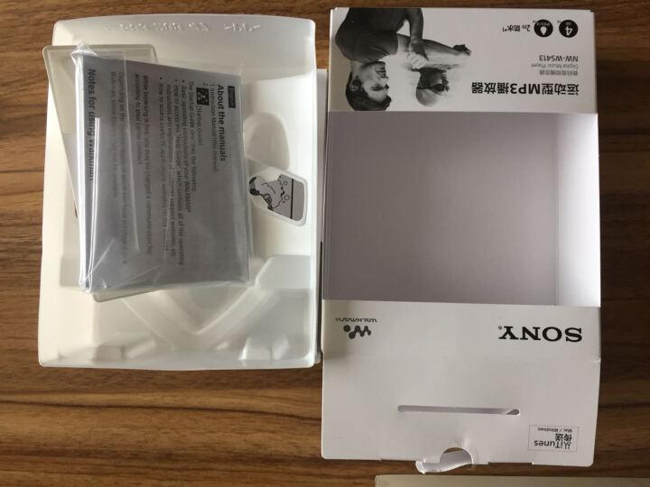 索尼(SONY)NW-WS413 MP3播放器迷你运动跑步游泳耳机运动防水随身听 黑色 晒单图