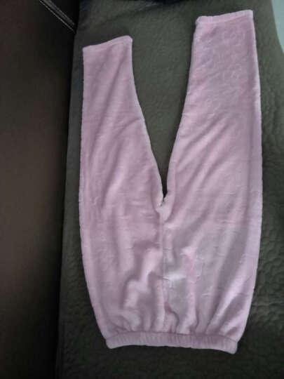 諾盾睡衣女冬季珊瑚绒加厚保暖女士长袖翻领开衫法兰绒家居服可外出套装 2031粉 M码150-163cm 80-100斤 晒单图