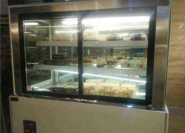 乐创(lecon) 蛋糕柜冷藏保鲜展示柜面包水果冷藏饮料保鲜鲜花陈列柜蛋糕展示柜 做:直角黑色前开门风冷防雾 订金不发货2.0长*0.67宽*1.2高 晒单图