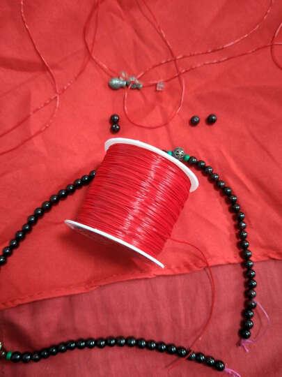 加鑫穿手链的皮筋 手串绳 穿珠子的 弹力线 串珠绳 手链线 接发水晶线 大卷 10号荧光粉红 晒单图