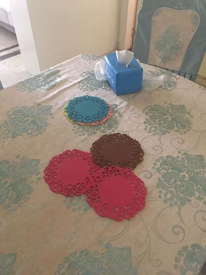 简佳 雕花隔热垫杯垫碗垫盘子防滑耐磨餐垫 六色各一 中号 晒单图