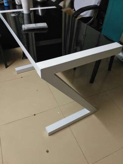 莉云居(Liyunju) 莉云居 电脑桌 台式 简约现代办公书桌钢化玻璃笔记本Z型写字桌 黑架+黑板 长140cm带键盘托 晒单图