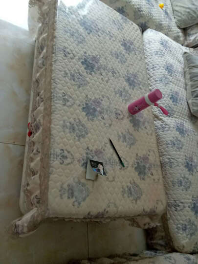 南极人home家纺 田园风沙发垫套装欧式布艺组合坐垫子全包四季通用防滑加厚坐垫定制 水瓶座-蓝 三件套/180 晒单图