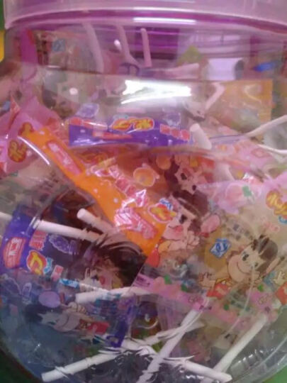 不二家 棒棒糖375g水果4口味60支桶装 儿童零食休闲糖果食品 纸棒棒糖罐装礼盒 晒单图