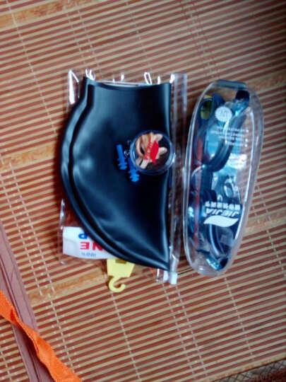 捷佳(JIEJIA) 泳镜游泳镜 电镀套装泳帽大框竞速防雾男女游泳眼镜 珠光蓝泳镜套装 晒单图