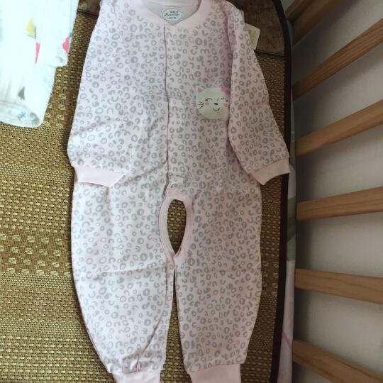 皮诺可 婴儿连体衣春秋婴儿衣服新生儿衣服纯棉0-3个月宝宝内衣爬爬服长袖连脚哈衣P0213 P0290 蓝色 73cm(12个月的宝宝建议身高66-73cm) 晒单图
