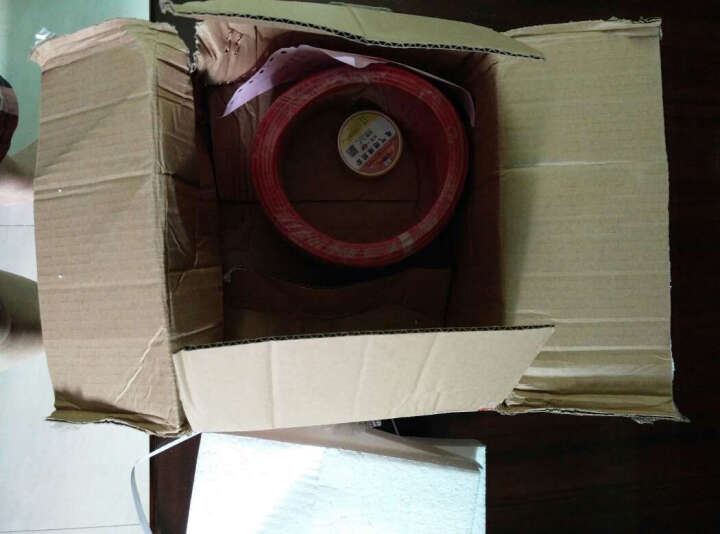 JYS金胜电线电缆ZB-BV2.5平方ZR阻燃国标纯铜芯线家装线单芯线单股硬线空调插座照明线 红色 50米 晒单图