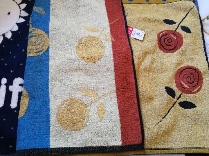 金号家纺纯棉枕巾欧式枕巾两条装 白色一条+黄色一条 晒单图
