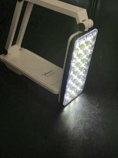 雅格台灯led充电式可折叠工作阅读台灯卧室床头灯学生学习写字台灯照明儿童护眼台灯 浅绿色 晒单图