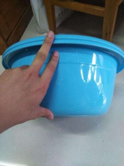 加品惠 脸盆 39cm塑料盆洗衣洗漱盆2只装JY-0656 蓝色 晒单图