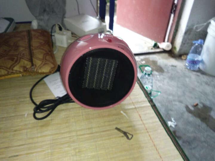 CIH 迷你暖风机取暖器家用小型小太阳浴室电暖器办公室电暖气节能速热暖气机 PTH1001球型梦幻粉 晒单图