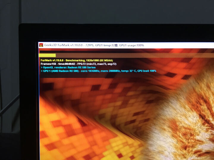 华硕(ASUS)ROG STRIX-RX580-T8G-GAMING 1411-1431MHz 8GHz GDDR5 玩家国度猛禽游戏显卡 晒单图