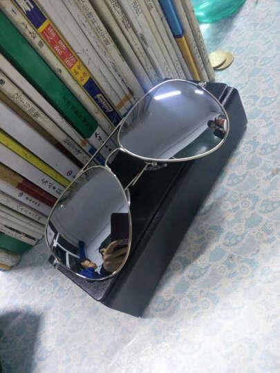 音米(INMIX)偏光太阳镜男 时尚飞行员蛤蟆镜潮人复古墨镜男士驾驶镜 炫彩眼镜 1201 银框银片 晒单图