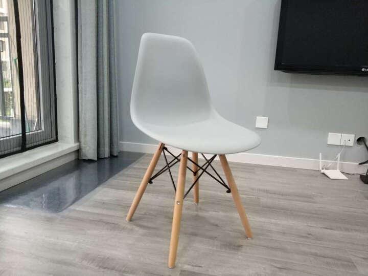 星典伊姆斯靠背塑料电脑洽谈餐椅子咖啡奶茶实木北欧简约会客吧椅办公会议椅 升级款灰色 晒单图