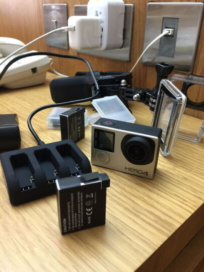 劲码 GoPro hero 4电池 GoPro4运动相机电池 三充充电器 GoPro配件 3个电池+1个usb线三充充电器 晒单图