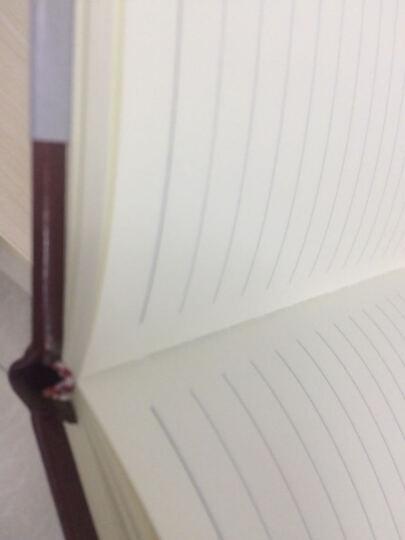 【买4送1】申士 笔记本子文具 商务厚记事本皮面本子创意日记本本册胶装本 蓝色 18K 晒单图