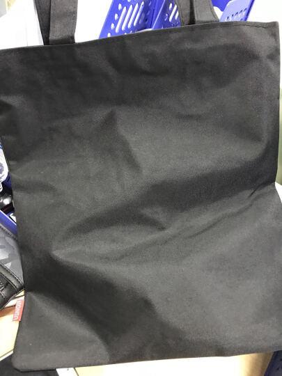 生活驿站纯白纯黑空白帆布包手绘包袋手提单肩包帆布袋学生包L 白包鸭 晒单图