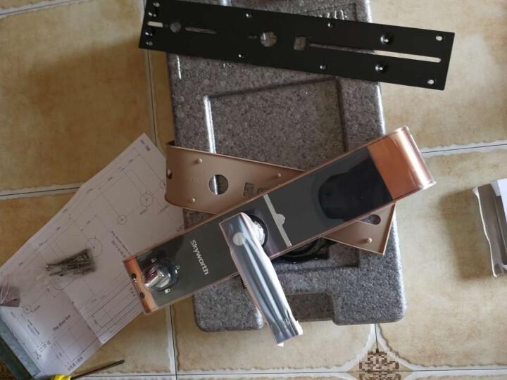 创维(Skyworth)指纹锁 家用智能锁电子锁密码锁防盗门锁R8 R8-红古铜 晒单图