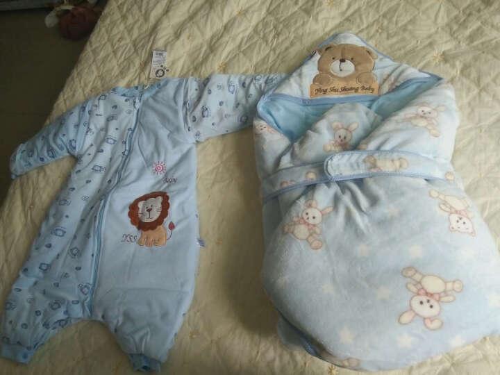 婴舒爽 婴儿睡袋春秋纯棉儿童睡袋防踢被宝宝睡兜婴儿分腿睡袋夏季薄款 小熊天蓝 2-4岁春夏 参照年龄 晒单图