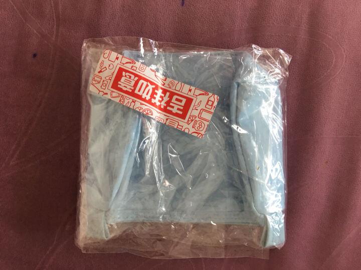 欧润哲 化妆包袋 手抓包韩款缕空PVC方形女性收纳袋 蓝色 晒单图