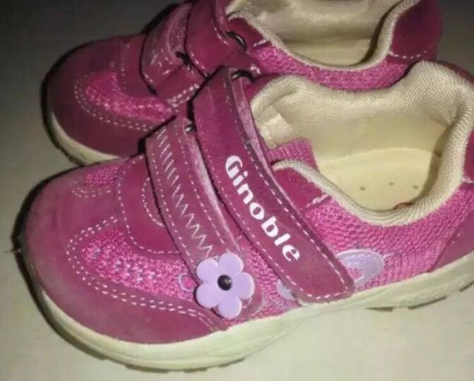 基诺浦Ginoble机能鞋 1-5岁女童公主鞋  春款透气软底学步鞋TXG200 桃红 5码/鞋垫长13.5cm 晒单图