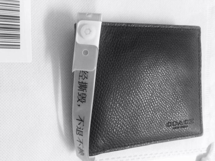 COACH 蔻驰 男款深蓝色皮质短款对折钱包钱夹 74981 BHP (F74981 BHP) 晒单图