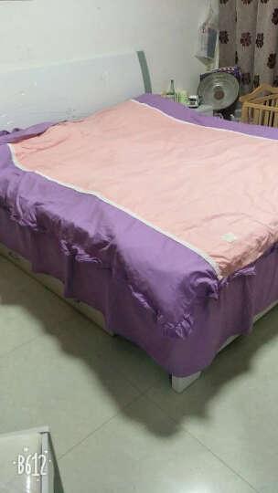 爱莱欧 全棉四件套婚庆纯色床裙四件套 床单四件套 香水玫瑰四件套粉红(夹棉款) 床裙150*200cm适合被子200*230cm 晒单图