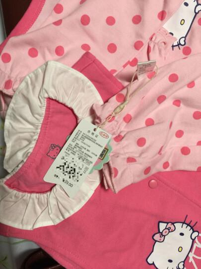 HelloKitty婴儿连体衣宝宝爬服棉毛布背心两件套哈衣KA732GA10R0266大红66 晒单图