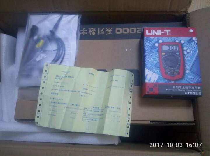 优利德(UNI-T)UTD2102CEX示波器带USB接口大屏二通道100M储存数字示波器 UTD2025CL 晒单图