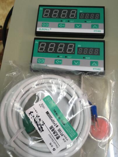 伊莱科(ELECALL) 管式热电阻温度传感器温控仪探头Φ5*50 PT100 线长10米 晒单图