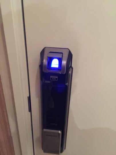三星samsung指纹锁电子锁智能门锁密码锁家用防盗门锁P718银色 晒单图