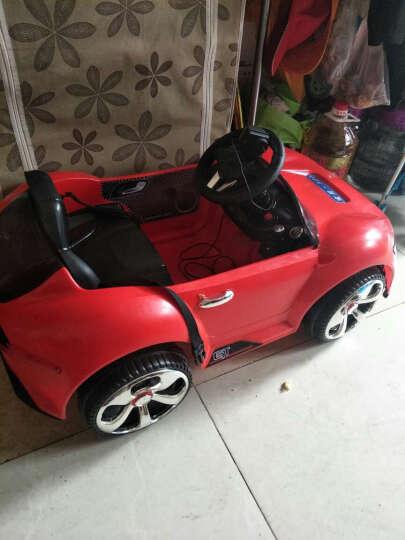 乐逗 儿童电动车 四轮童车可坐 宝宝玩具车可遥控小孩电动汽车可以吹泡泡的童车 红色 带吹泡泡功能+后备箱+一键启动+2.4G遥控 晒单图
