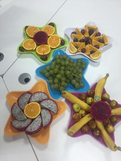 欧凯斯(OKISS) 欧凯斯时尚炫彩五角海星多用水果盘果盆创意塑料盘干果盘零食盘 蓝色 晒单图