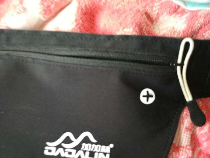 加加林 跑步腰包 贴身运动登山骑行腰包 手机包贴身隐形钥匙包 黑色JY-01 晒单图