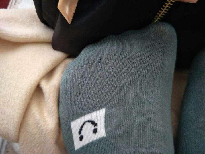叙年短袜子女士隐形袜 船袜棉质女袜全棉浅口袜5双装 黑白鸟格女隐形 均码(34-39码) 晒单图