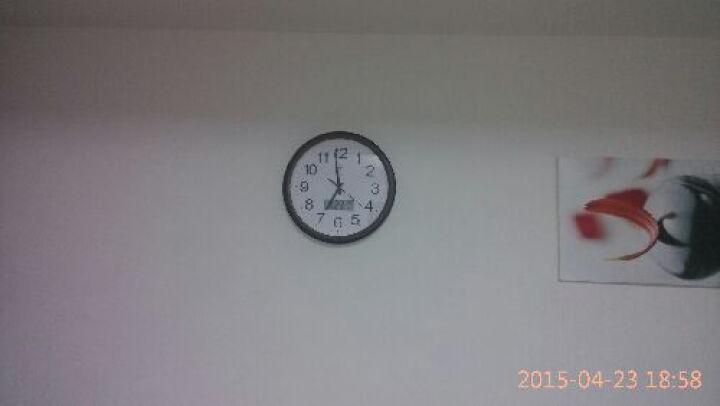 康品钟表简约电子挂钟时尚客厅现代家用大气挂表静音万年历卧室石英钟办公室表挂墙中式夜光日历壁钟装饰时钟 9040白色夜光 晒单图