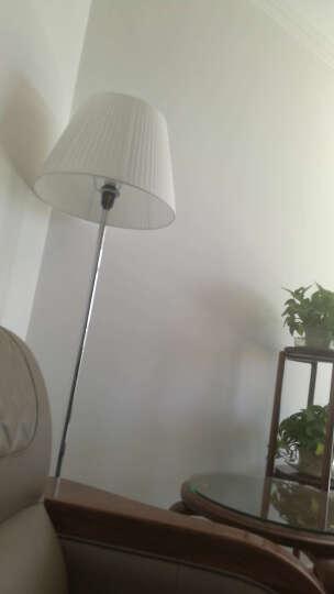 尚美瑞 现代简约风格落地灯个性创意落地灯时尚布艺田园卧室书房大厅灯白色折布 L153白铬 拉线开关/LED灯泡 晒单图
