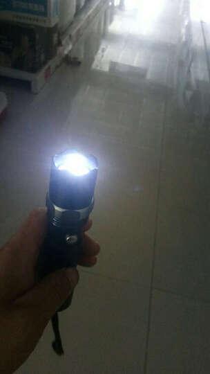 一口米 户外强光手电筒 充电远射LED手电 防身骑行家用手电 晒单图