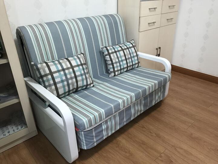 宜沃 沙发床 北欧沙发床 实木沙发 小户型实木沙发床可折叠双人客厅多功能两用简约现代可变床 1603 1.2米 乳胶款 晒单图